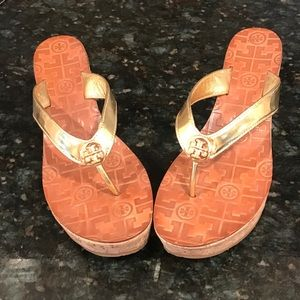 Tory Burch Gold Suzy sandals -size 9-barely worn!